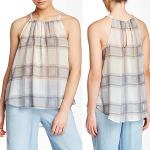 Splendid Plaid Chiffon Halter Blouse